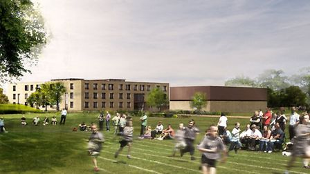 An artist's impression of the Suffolk New Academy.