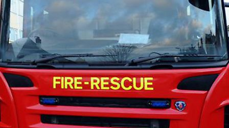 A man was rescued from a car involved in a crash on the A14