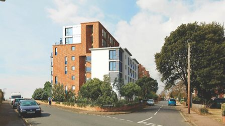The proposed McCarthy and Stone development on the clifftops at the junction of Hamilton Gardens and