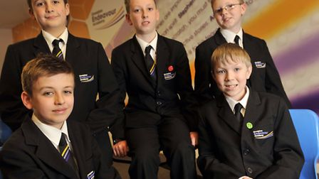 Ormiston Endeavour Academy pupils Jay Porter, Ethan Perry, Jensen Squirrell, Joshua Kennell and Liam