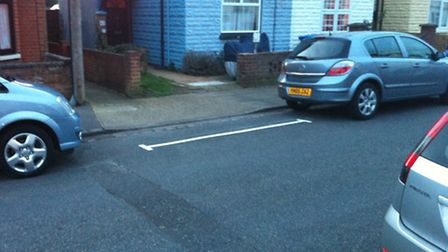 White lines have appeared on part of Leopold Road, much to the bemusement of residents.
