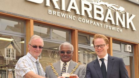 Official opening of the Briarbank Brewery near Isaacs in Ipswich. L-R Aidan Coughlan, Ipswich Mayor
