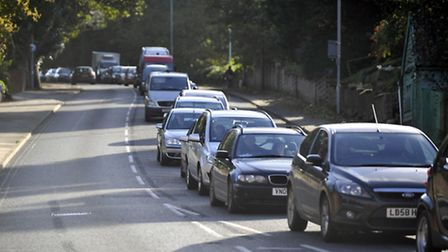 There were fears that more traffic lights could increase congestion on Bishop's Hilll.