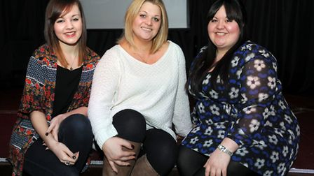 The launch of Ipswich Has Got Talent 2014 at the Kingfisher pub in Ipswich. Past performers L-R: Lea