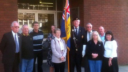 Members of the Bramford Royal British Legion outside South East Suffolk Magistrates Court at an earl