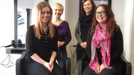 Hairstylists at John Oliver's, Ipswich who are taking part in the Pamper Day for Great Ormond Street