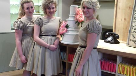 Three sisters at Cake Supreme in Tacket Street, Ipswich,Chloe Wood, Sophie Wood and Vicky Vincen