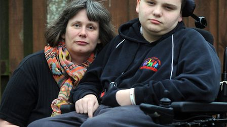 Jake Edwards and his mum Sue Edwards, pictured, have been backed by more than 50 families in critici