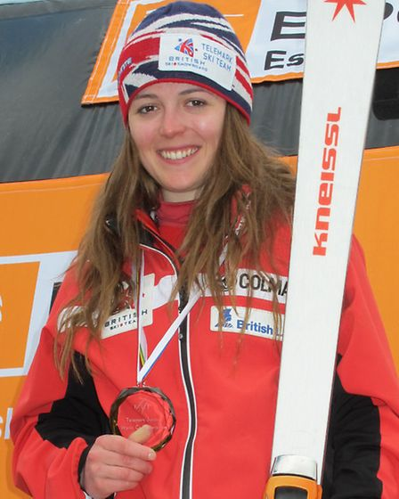 Telemark skier Jasmin Taylor, who is taking part in An Evening with ... at Felixstowe to help promot