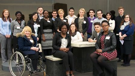 UCS students at the Ipswich Office of Willis, Business students enhance their employabaility skills