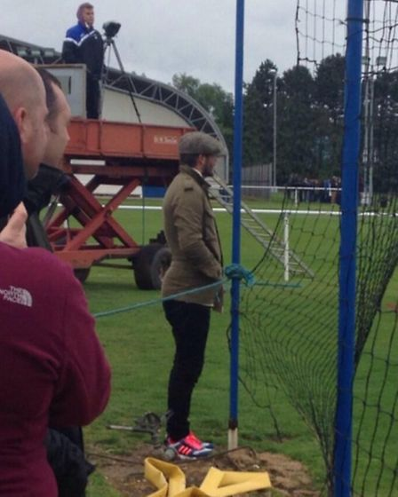 David Beckham looks on as Ipswich and Arsenal youth teams play each other