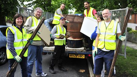 The Noisy Group hold a Clean Up Queensway Campaign in the Nacton area of Ipswich. Sam Morley, Jerem