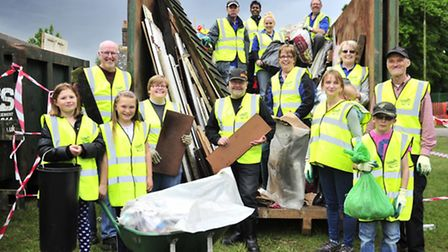 The Noisy Group hold a Clean Up Queensway Campaign in the Nacton area of Ipswich.