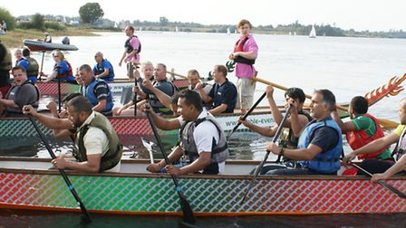 St Ellizabeth Hospic is looking for business teams to take part in Dragon Boat Racing at Alton Water