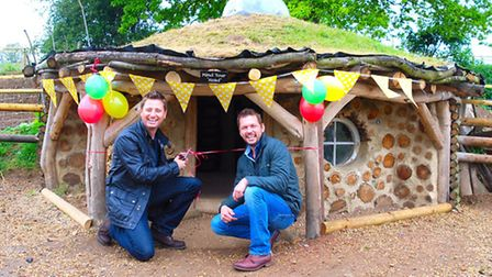 George Clarke launches the new hobbit house at Jimmy's Farm with Jimmy Doherty