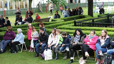Music fans watching the band perform at the Suffolk Show, at Trinity Park