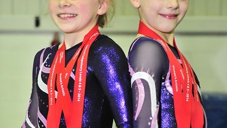 Halle Hilton, left, and Jaimee Smith who have been crowned British champions at the Elite Grades Nat