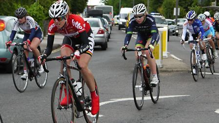 Photos of the women's race passing along Woodbridge road in Ipswich. Was great to be able to see the