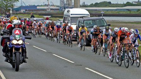 Women's Cycle Tour on the Strand, Ipswich - By Peter Cutts