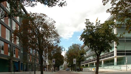 Ipswich Council, based at Grafton House (left) could find itself in court facing neighhours Suffolk