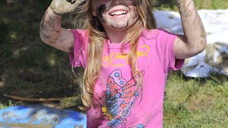 Children at Highfield Nursery in Ipswich took part in World Mud Day on Wednesday, 2 July playing in