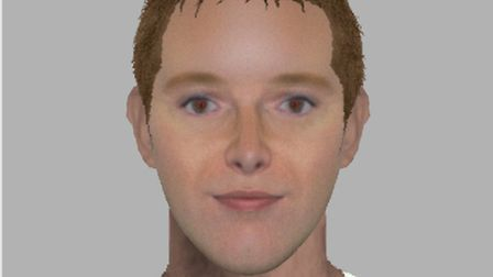 An e-fit of a man who exposed himself to a woman in Ipswich