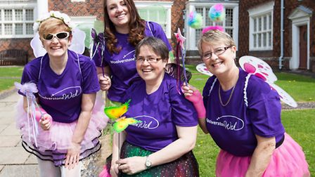 Kerseys staff dressed as fairies, from left to right: Sharon Wragg, Claire Wray, Jane Riley and Pam