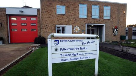 Felixstowe Fire Station - full-time crews are set to be removed