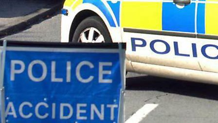 Police are on scene at the collision westbound between Asda and Claydon, a Suffolk Constabulary spok