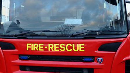 Firefighters were called to a car blaze in Ipswich