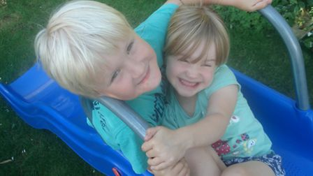 Jacob and Erin - mum Claire Jennings wishes she had more time with them over the holidays
