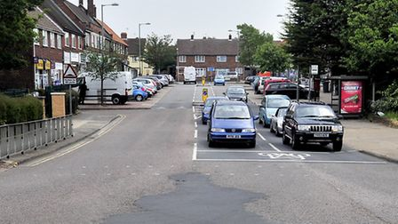 Junction of Meredith Road and Norwich Road, on the Whitton estate, Ipswich