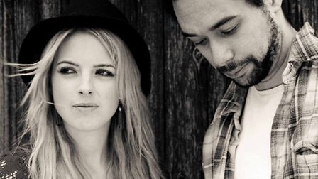 The Shires, Crissie Rhodes and Ben Earle, playing Jimmy's Sausage and Beer Festival