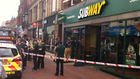 Subway was evacuated while firefighters checked a chemical spill.