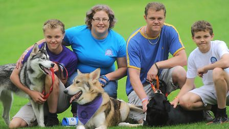 Blu the Husky who suffers from canine epilepsy is setting off with his family on a 50-day UK tour to