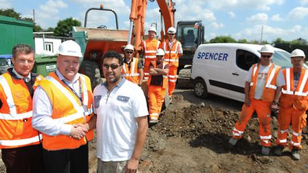 Spencer Group begins work to tarmac Whitton United's car park and driveway for free.
