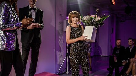 Jessica Hay, of Hanks Hairdressing, receives her Goldwell award