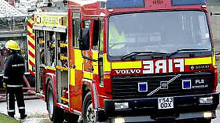 Firefighters attended building fires in Ipswich and Hadleigh