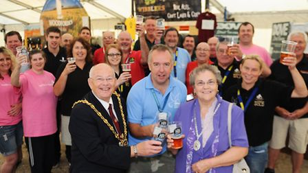 Ipswich Mayor Bill Quinton at the opening of the Beer and Beverage festival as part of Celebrate Ips