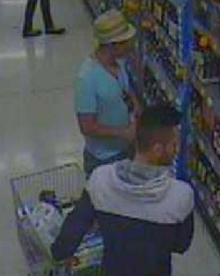 CCTV images issued by police in connection with the theft of alcohol from a shop in Ipswich