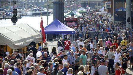 Crowds fill up the Ipswich Waterfront for the Ipswich Maritime Festival on last year