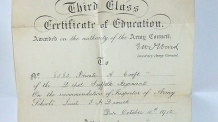 The Army offered the prospect of regular wages, education and promotion. Albert Croft gained an Army