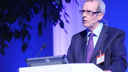 Paul Winter speaking at New Anglia LEP's Next Generation Conference at Wherstead Park on November