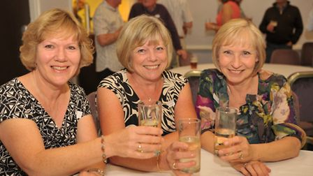 Old friends were reunited at the Chantry school reunion at the Holiday Inn. L-R Hazel Calver, Susan