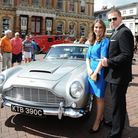 Display over vintage and classic cars on The Cornhill, Ipswich as part of Celebrate Ipswich Celebr