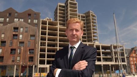 Developer John Howard has bought the 'wine rack ' building on the Ipswich Waterfront.
