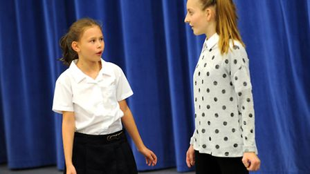 Britain's Got Talent auditions at Felixstowe Academy. Chloe Ward and Leah Fleming.
