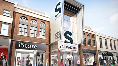 Artist's impression of Sailmakers - the new name for Tower Ramparts.