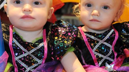 Twin club in Capel St Mary celebrates it's 4th Birthday with a fancy dress party. Amelie and Isabel