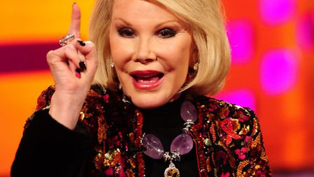 Joan Rivers on the Graham Norton Show filmed in 2012. Photo: Ian West/PA Wire